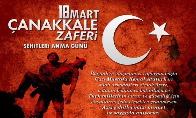 18 Mart Çanakkale Zaferi ve Şehitleri Anma Günü 105. Yılı